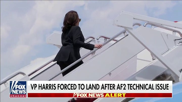 Kamala Harris' plane forced to return due to 'technical issue'
