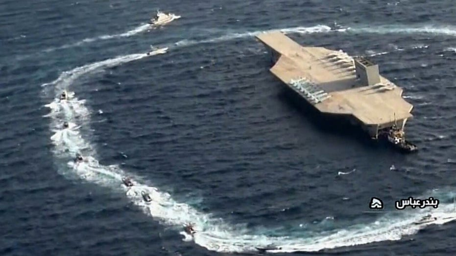 Expert says Iran is trying to act tough by conducting live-fire drill on mock US carrier
