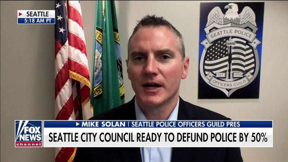 Mike Solan reacts as Seattle City Council ready to defund police dept. by 50 percent