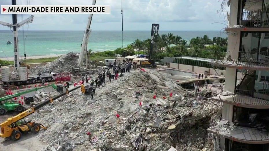 Crews prep to demolish Florida condo ahead of storm