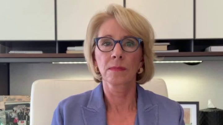 Betsy DeVos says Ed Dept is 'as far left-wing' as one can imagine