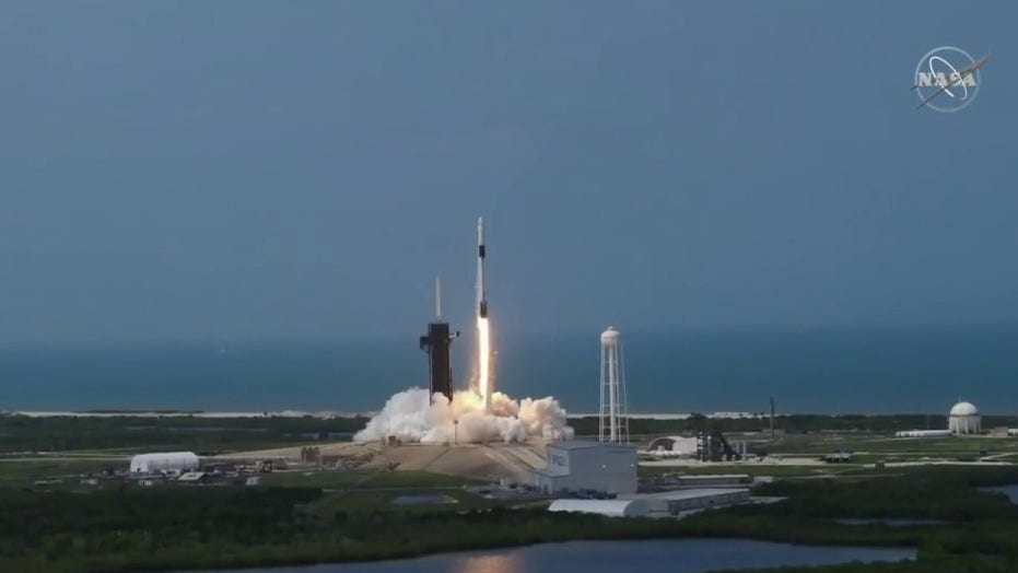Historic liftoff: SpaceX launches NASA astronauts into orbit