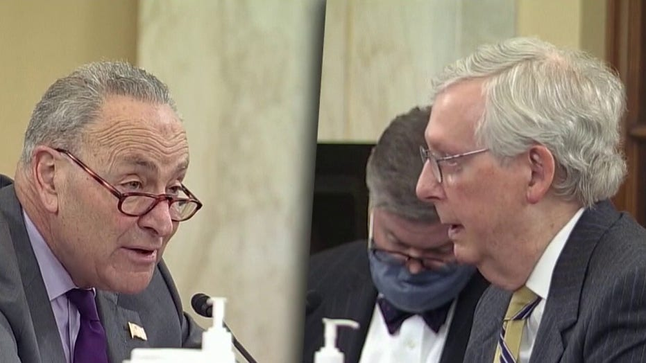 Schumer, McConnell square off during voting rights hearing