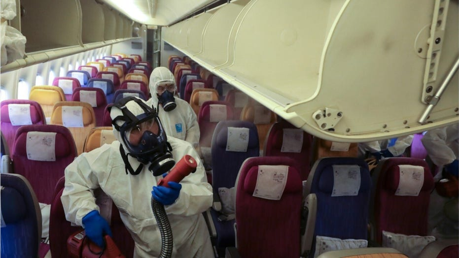 Airline cleaning crews putting in extra work to combat coronavirus outbreak