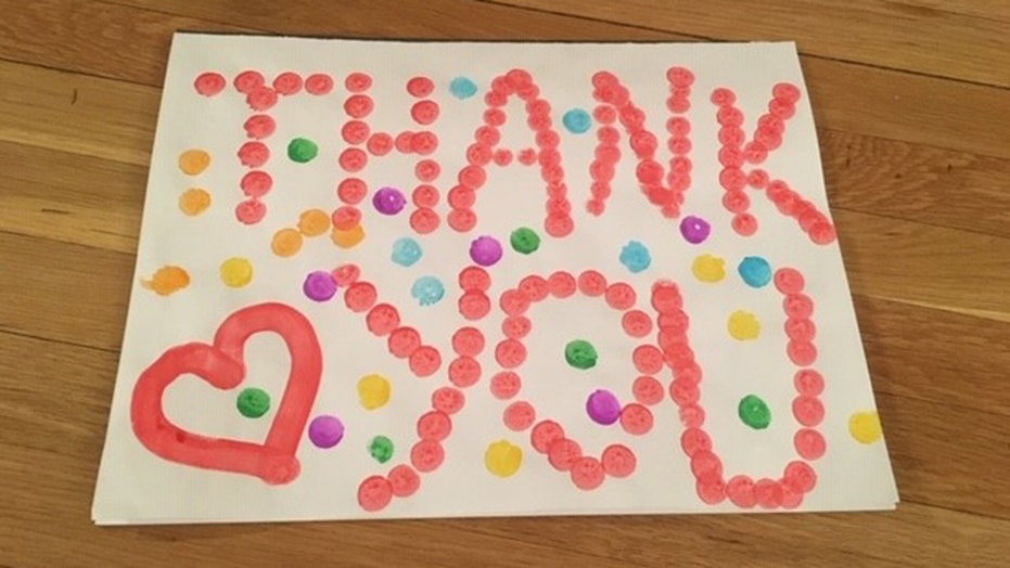 Amid coronarvirus crisis, kids send hundreds of thank you cards to hospital workers