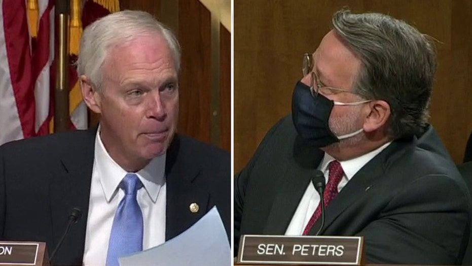 Senate hearing explodes as Johnson accuses Dem of spreading Russian disinformation: 'You lied repeatedly!'