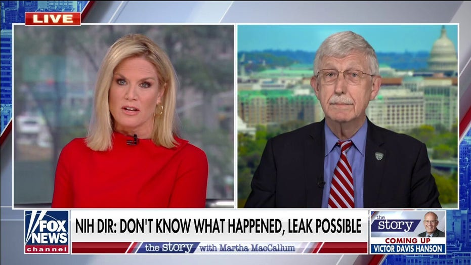 MacCallum pushes back on NIH chief denying he rejected lab-leak theory: 'You and Fauci jumped to conclusions'