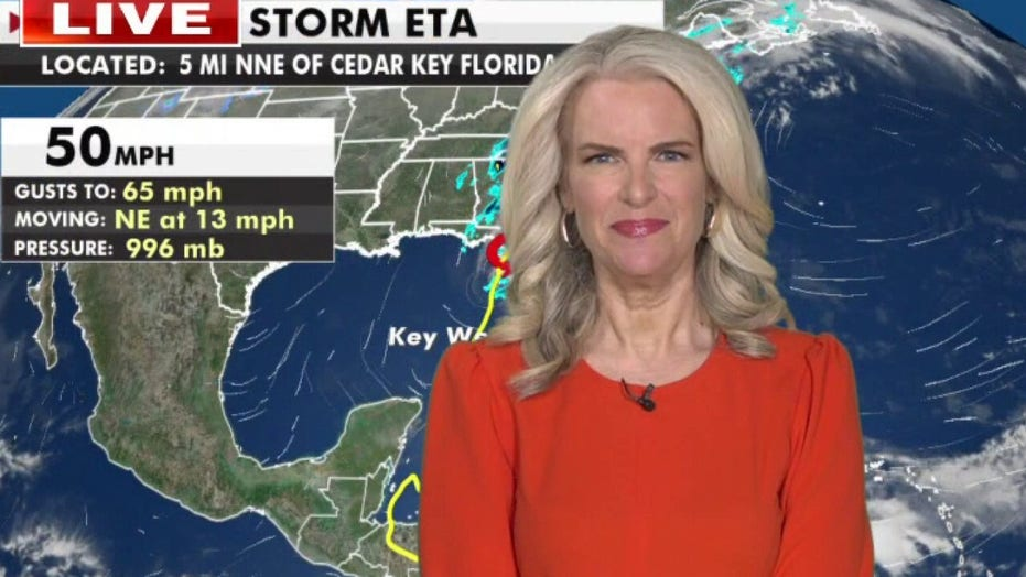 Tropical Storm Eta makes landfall in Florida, man dies after being electrocuted in standing water