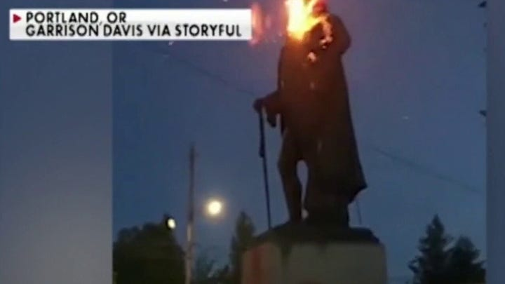 Statue of George Washington burned and torn down amid anti-monument movement