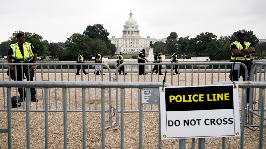 Cops and protesters gather at US Capitol for 'Justice for J6' rally