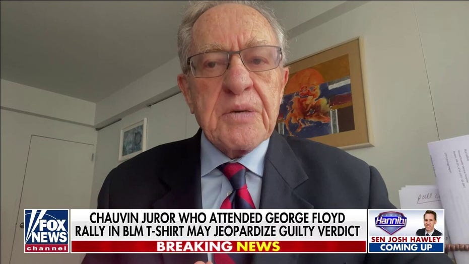 Alan Dershowitz: 'Without a doubt' Derek Chauvin verdict should be vacated