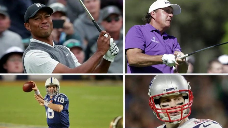 Tiger Woods, Peyton Manning team up against Phil Mickelson, Tom Brady for charity golf match