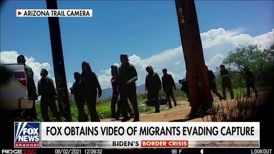 Arizona's migrant flood captured on hidden trail cameras