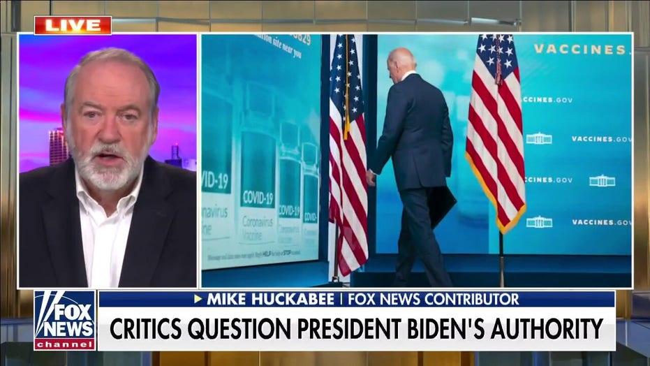 Mike Huckabee slams Biden over lack of authority: 'Not in complete command'
