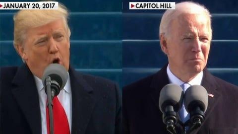 Contrasting the media's response to Biden, Trump inaugurations