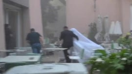 Heartstopping video shows Lebanese bride posing for shoot moments before massive explosion rocked capital