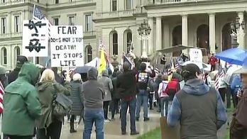Michigan demonstrators warned against displaying weapons, ignoring social distancing measures