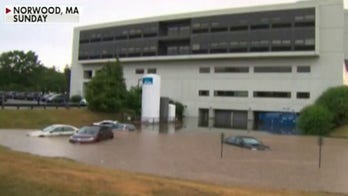 Flash flooding in Massachusetts swamps hospital, strands drivers in floodwaters
