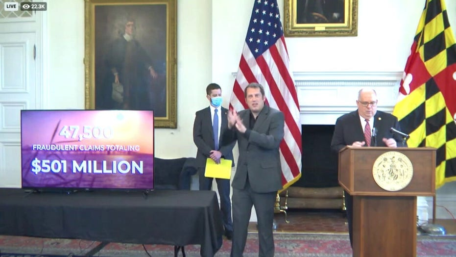 Gov. Larry Hogan on exposing a half billion in fraudulent unemployment claims