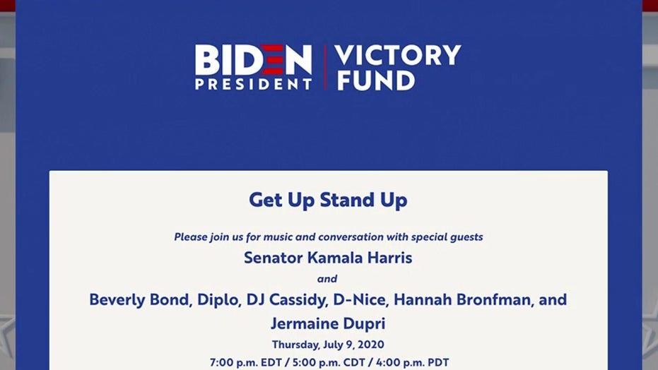 Kamala Harris enlists celebrity DJs to help raise money for Joe Biden