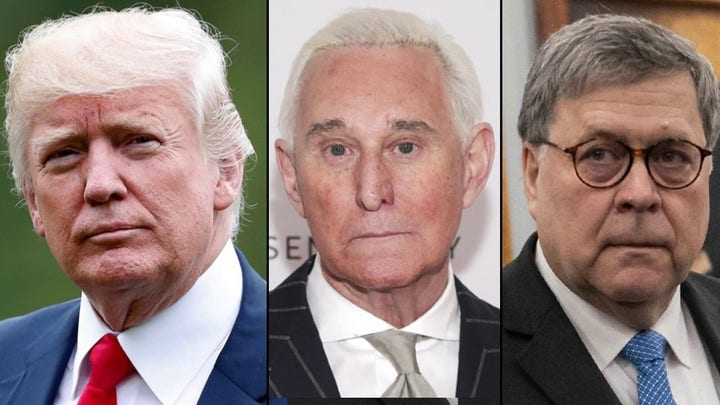 President Trump congratulates Attorney General Barr for taking control of Roger Stone case
