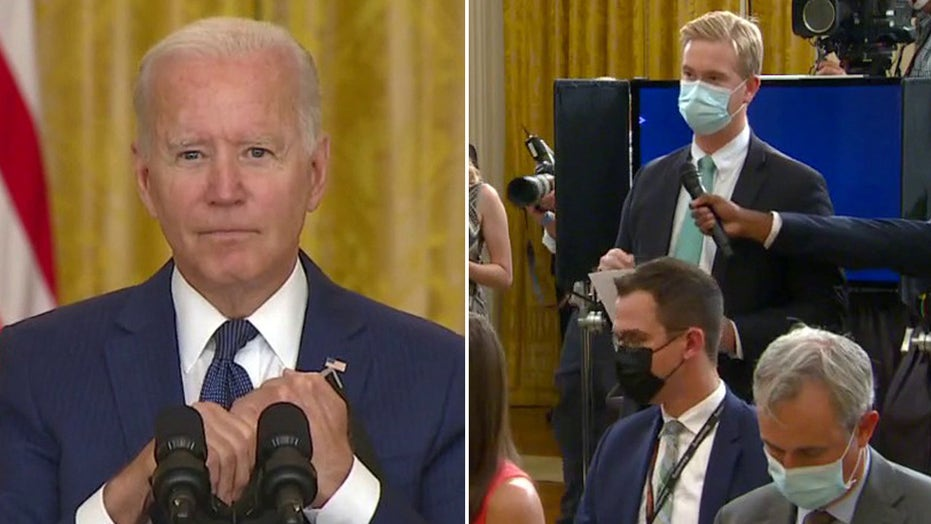 President Biden says he was 'instructed' to call on reporters from list at presser following Kabul attacks