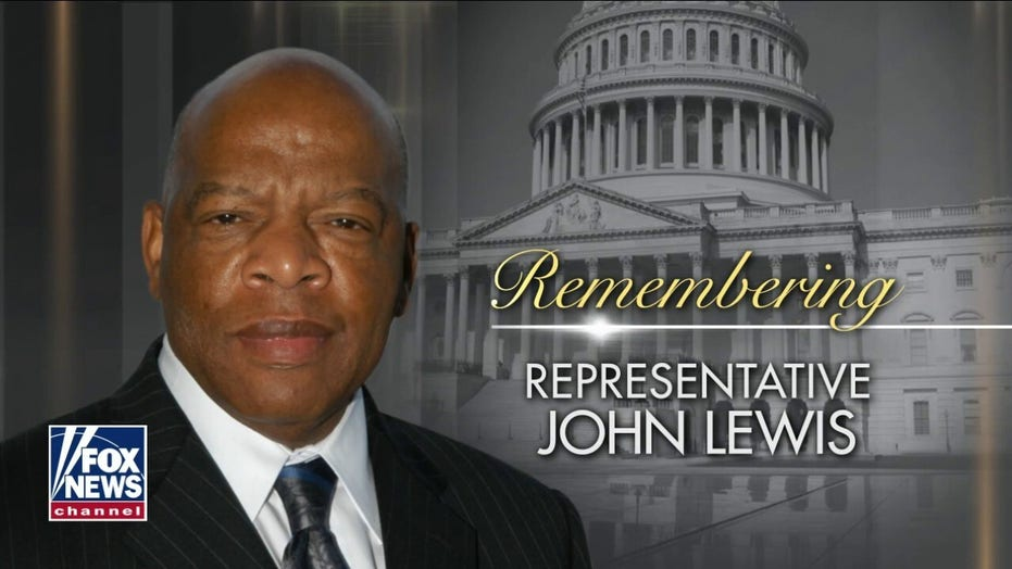 Rep. Lewis departure ceremony takes place at the US Capitol
