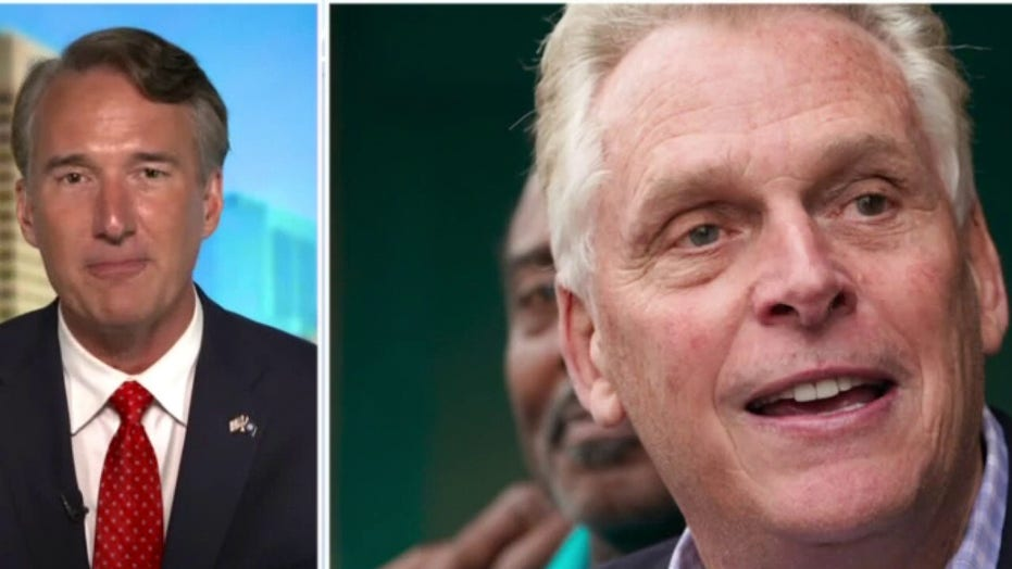 Youngkin reacts to McAuliffe's admission Biden sinking in Virginia