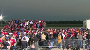 President Trump campaigns in battleground Ohio