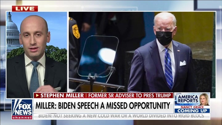 Stephen Miller: Biden had captive audience at UN yet barely addressed Afghanistan