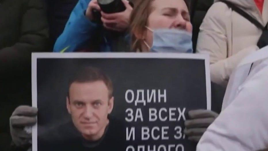 Putin critic Navalny defiant during prison sentencing