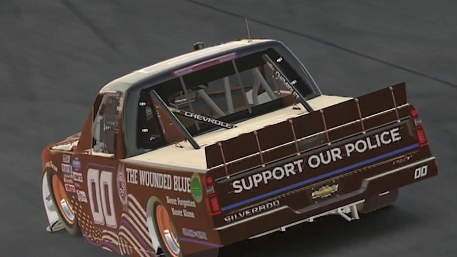 NASCAR driver on honoring law enforcement during race