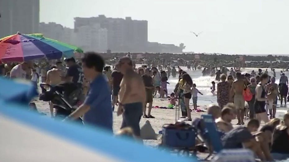Some spring breakers ignoring coronavirus warnings by flocking to crowded beaches, concerts