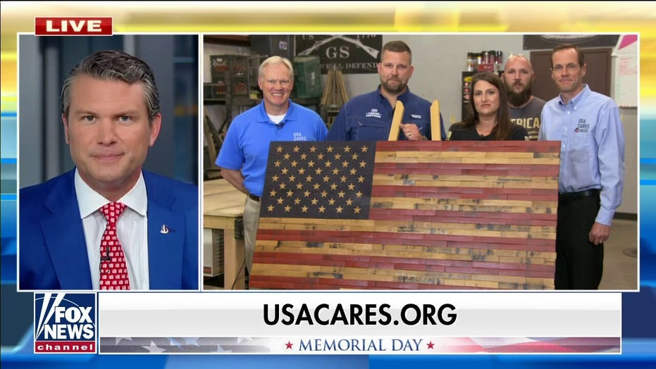 Veteran-owned flag company displays new wooden flag