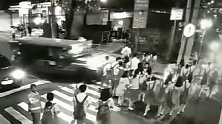 Warning, graphic content: Jeepney plows through students, killing at least one