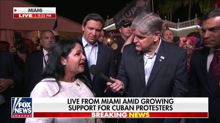Supporters rally to ask for freedom in Cuba