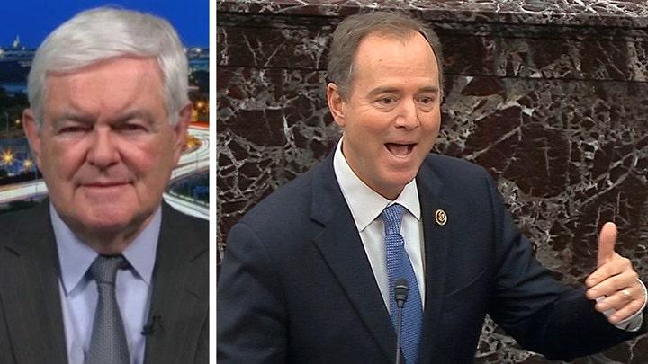 Newt Gingrich calls out Schiff's lies as 'deranged'