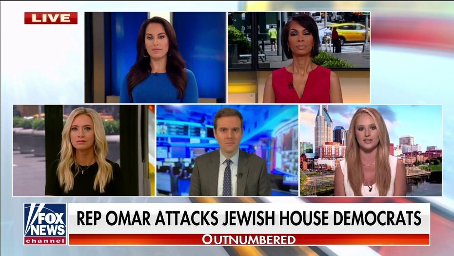 Ilhan Omar slammed by 'Outnumbered' hosts for attacking Jewish House colleagues: She's 'untouchable'