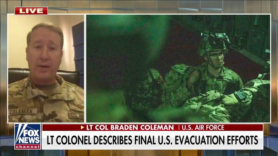 Lt. Col. Coleman: Afghanistan exit flight was 'unlike anything I've ever seen'