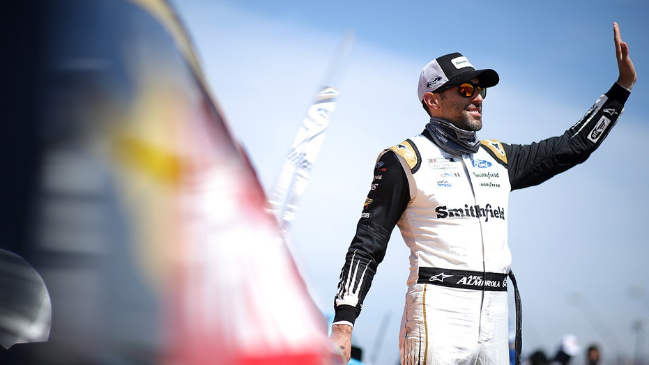Cuban American NASCAR star Aric Almirola reminds fans that 'our freedom is not free'