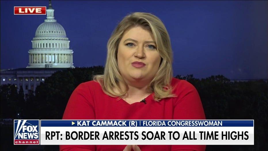 Kat Cammack blasts Biden's 'Weekend at Bernie's' presidency as border arrests hit all-time highs