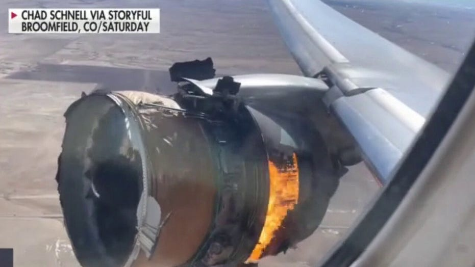 United Airlines Flight 328: Doorbell camera captures falling jet debris