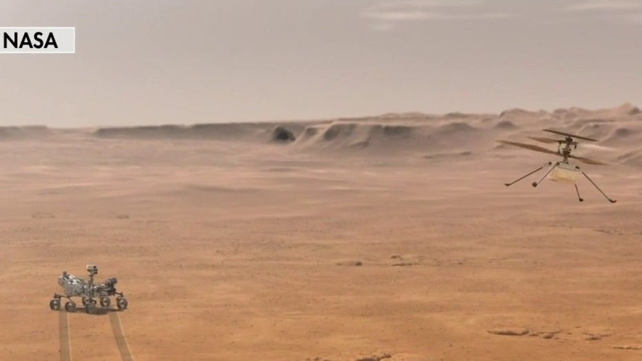 NASA Ingenuity Mars helicopter makes history with first powered, controlled flight on another planet