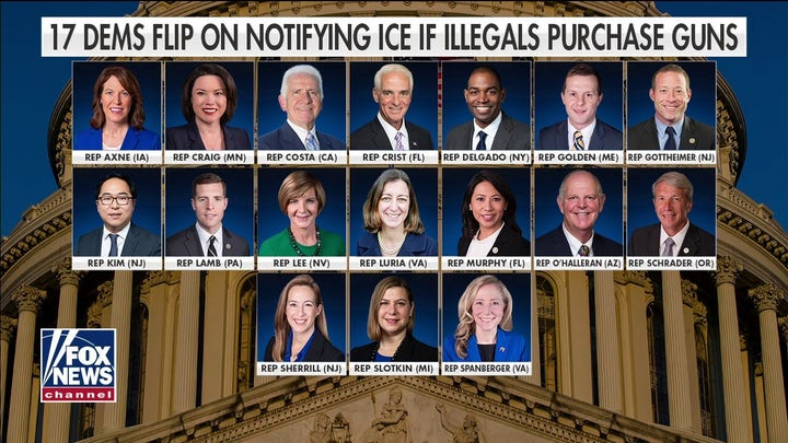 17 Dems flip on notifying ICE if illegal immigrants purchase guns