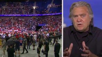 Steve Bannon talks 2020 race as Trump rallies supporters in Tulsa
