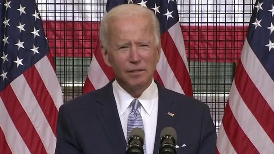 Joe Biden condemns lawlessness in America, says President Trump is fanning the flames