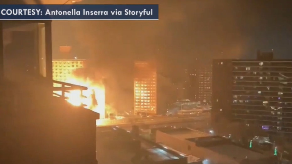 Massive inferno in New York City after truck carrying propane tanks bursts into flames