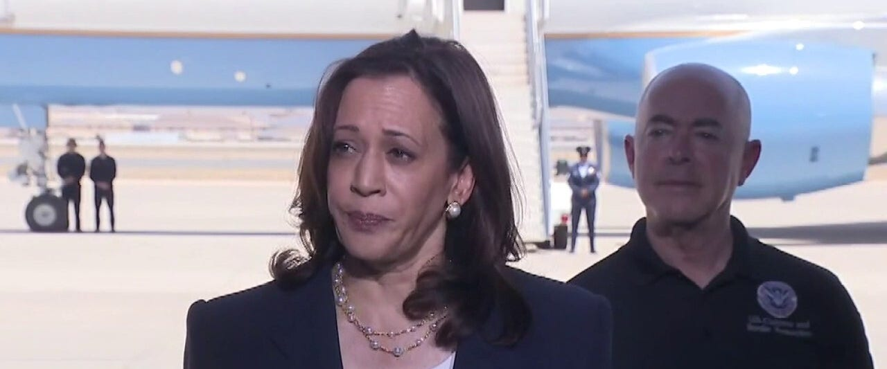 After brief first border visit, Kamala Harris flies on to Los Angeles – for 4th time