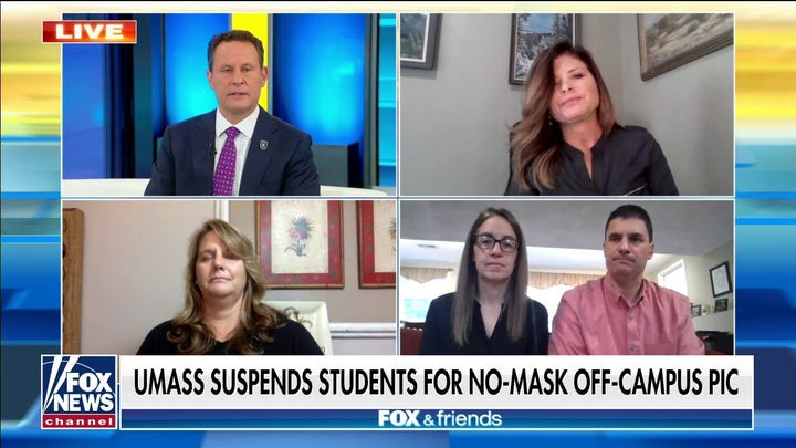 Parents of UMass Amherst students on 'draconian' suspension over maskless photo at off-campus party