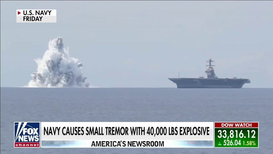 Navy explosion test for new aircraft carrier registers as minor earthquake in Florida
